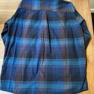 Blue and black Patagonia flannel